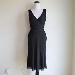 J. Crew Black Silk Dress